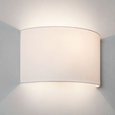 Petra 180 Wall Light complete with White Fabric Shade - ASTRO  1367003/5027001  (7170/4141)